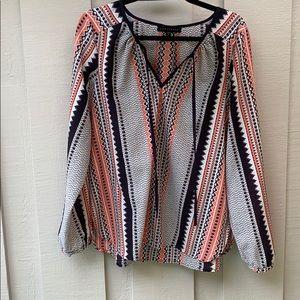 Sanctuary trouble print blouse